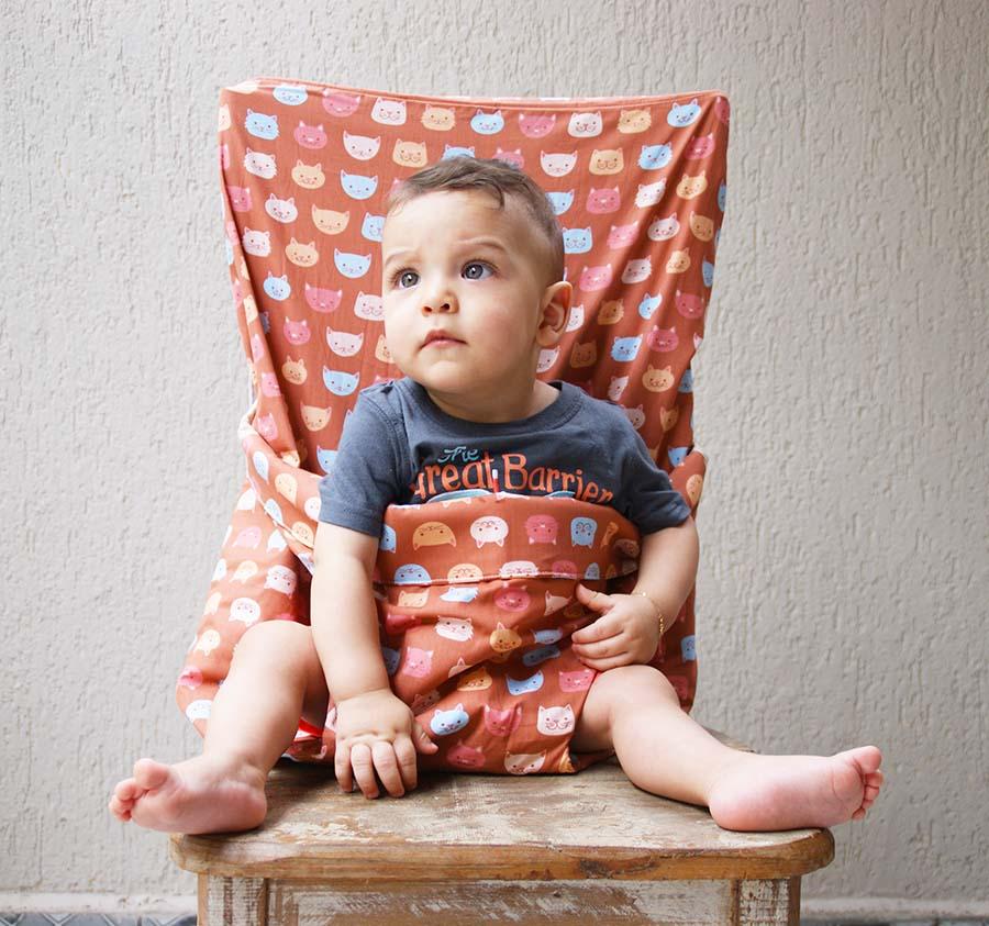 Assento de tecido para bebê