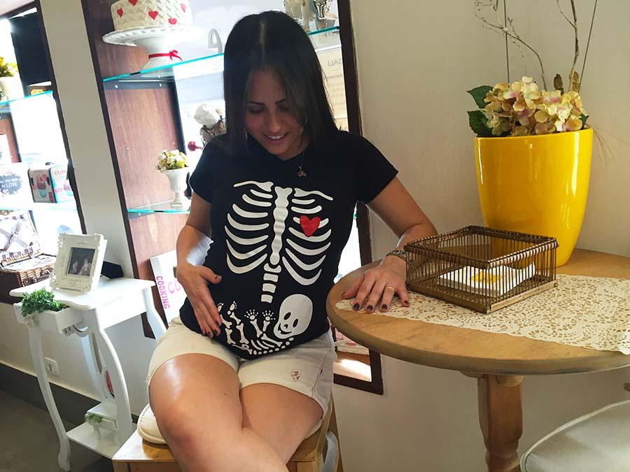 camiseta para grávida