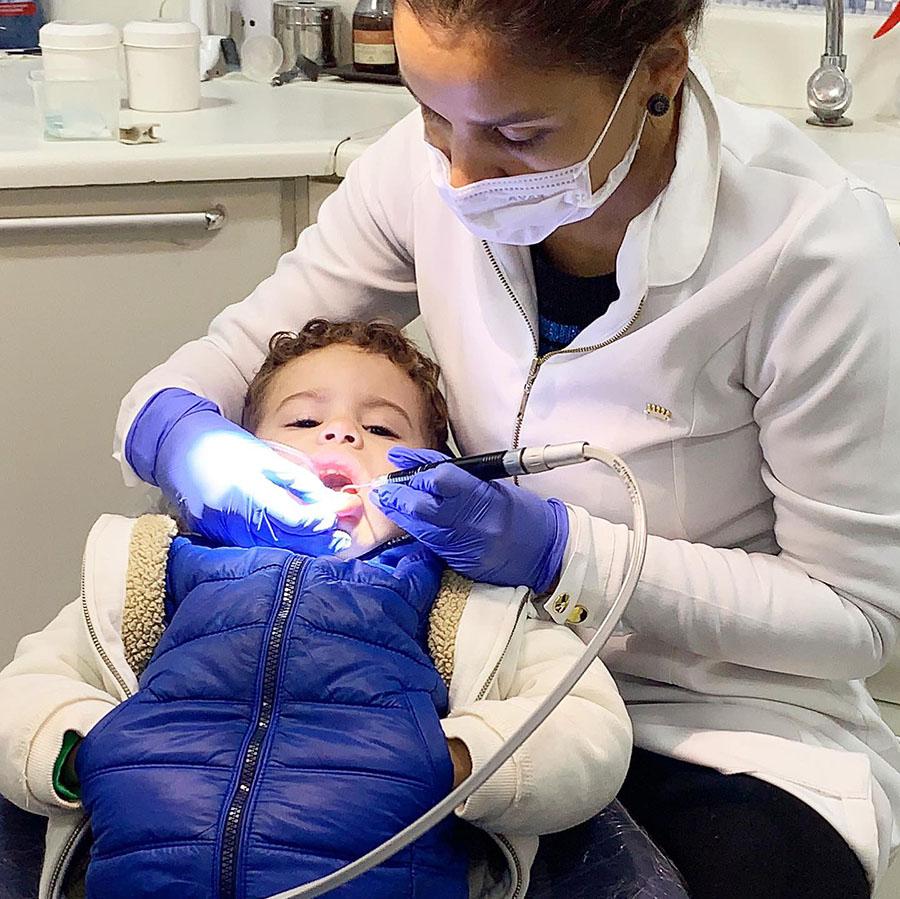 Gabriel no dentista pela primeira vez